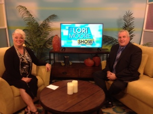 Aaron Winters, Executive Director of the Kalamazoo Humane Society appears on set with Lori Moore